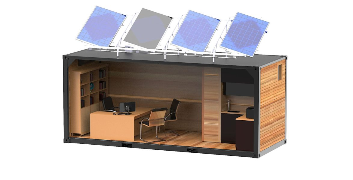 Complete Catia V5 3D Computer Added Design (CAD) model of the single office variant interior layout.